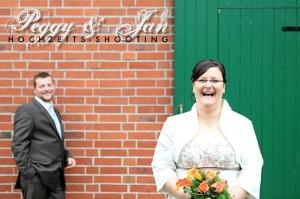 Braut-Blumen-Bräutigam
