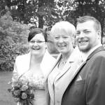Hochzeit-Brautpaar-Schwarzweiß