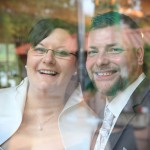 Hochzeit-Fotos-Fensterscheibe