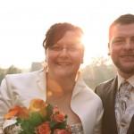 Hochzeitsfotos-Brautpaar-Sonne