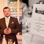 Hochzeitsfotos-Feier-Speisekarte