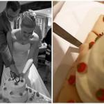 Hochzeit-Brautpaar-Hochzeitstorte